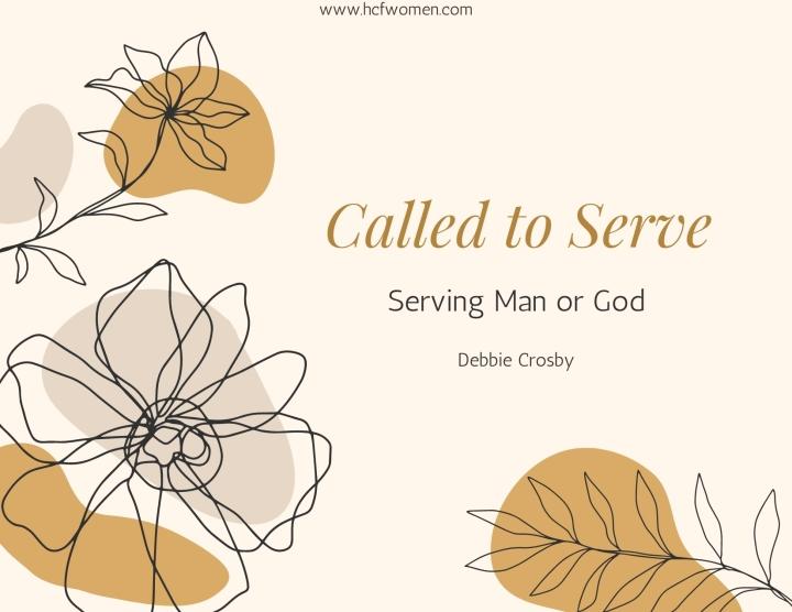 Serving Man orGod